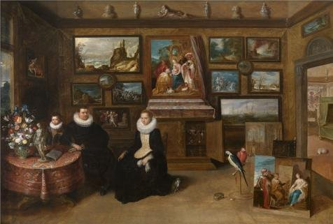 The High Quality Polyster Canvas Of Oil Painting 'The Collection Of Paintings Of Sebastian Leerse By Frans Francken II,first Half Of 17th Century' ,size: 20x30 Inch / 51x75 Cm ,this Beautiful Art Decorative Canvas Prints Is Fit For Gym Decor And Home Gallery Art And Gifts