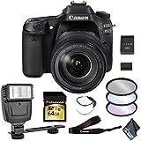 Canon EOS 80D DSLR Camera 18-135mm Lens 64GB Memory Card, Filters, Camera Strap Starter Bundle International Model