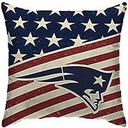 Pegasus Sports NFL Team Americana Decorative Throw Pillow- New England Patriots