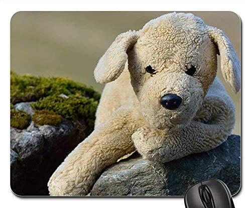 Gaming Mouse Pads,Mouse mat,Stuffed Animal Plush Dog Dog Rock Nature