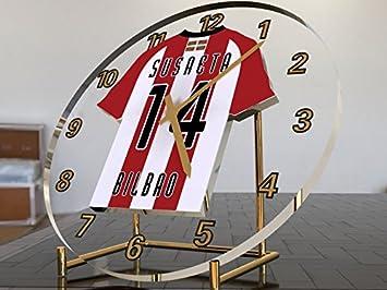 Reloj de sobremesa, diseño de camiseta de fútbol de La Liga española, color Athletic