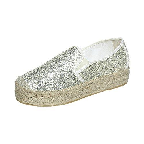 VIDORRETA Alpargatas Para Mujer, Color Plateado, Talla 39 EU: Amazon.es: Zapatos y complementos