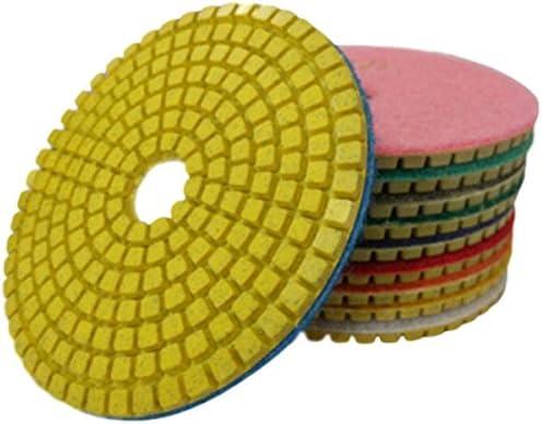 Mutt (ムト) 大理石 研磨 パッド 10種 セット 100mm 粒度 50 ~ 3000 プラスチックパッド 付 石 専用 (10種※50~3000(10cm))