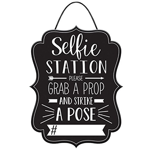 Stumps Graduation Photo Booth Hashtag Sign,Black/White