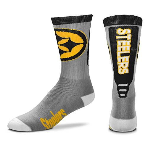 Pittsburgh Steelers Cool Grey Jump Key Socks, Large at SteelerMania