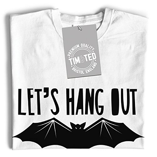 Funny Out Tim Shirt Bat Navy Ted T Slogan Hang Let's Halloween And blue qpp8gE