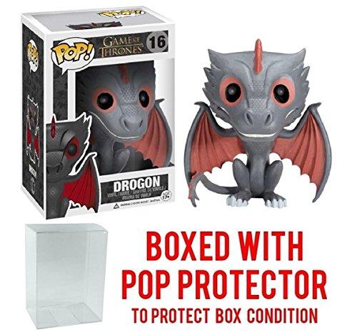 Funko Pop! Game of Thrones: GOT - Drogon #16 Vinyl Figure (Bundled with Pop BOX PROTECTOR CASE)