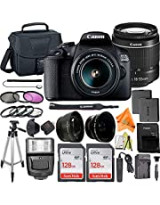 $569 » Canon EOS 2000D / Rebel T7 Digital SLR Camera 24.1MP with 18-55mm Zoom Lens + ZeeTech Accessory Bundle, 2 Pack SanDisk 128GB Memory Card, Telephoto and Wideangle Lenses, Flash, Tripod