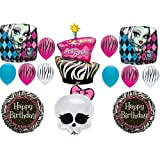 Monster High Zebra Cake Birthday Party Balloons Decorations Supplies Favors