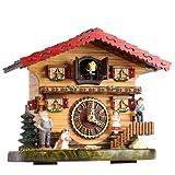 Trenkle Reloj cucú de cuarzo Casa suiza con música TU 487 QM