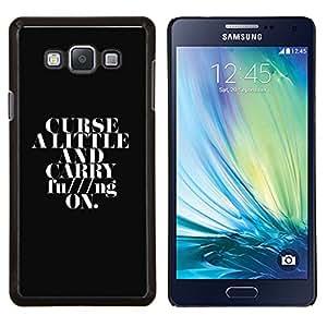 TECHCASE---Cubierta de la caja de protección para la piel dura ** Samsung Galaxy A7 ( A7000 ) ** --Maldice A Little & Carry On