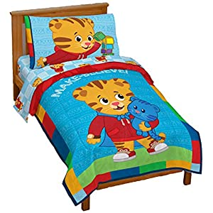 Jay Franco Daniel Tiger's Neighborhood 4 Piece Toddler Bed Set - Super Soft Microfiber Bed Set Includes Toddler Size Comforter & Sheet Set - (Official Daniel Tiger's Neighborhood Product) 14