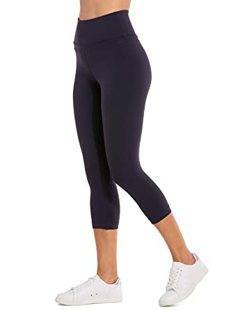 CRZ YOGA Womens Naked Feeling High-Rise Crop Tight Yoga Capri Pants Workout Leggings 19