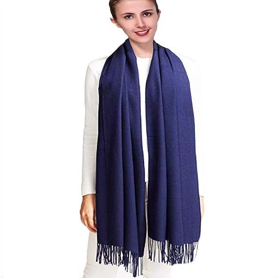 iEverest Pashmina Châle Écharpe Foulard Hijab - Unisex Hiver Chaud Écharpe  Pashmina Châle Écharpe de Couleur 6ca074988d7