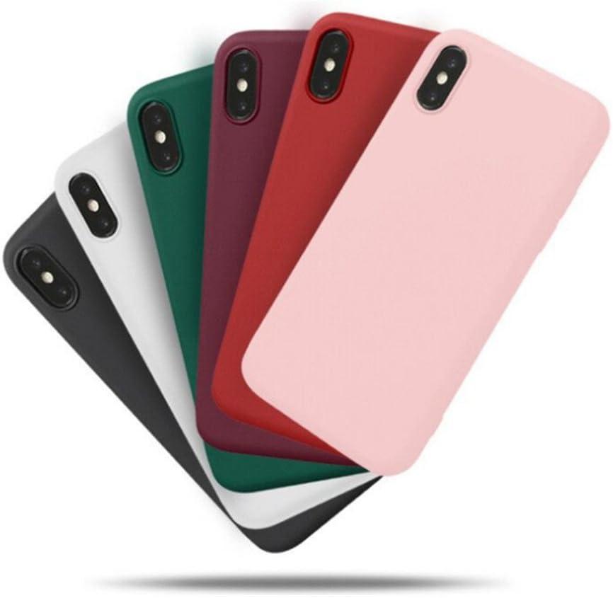 Freessom Coque iPhone 6/6s Silicone Rose Poudre Pale Mat Apple Couleur Souple Slim Simple Anti Choc Ultra Mince Fine Originale Fantaisie Leger en TPU ...