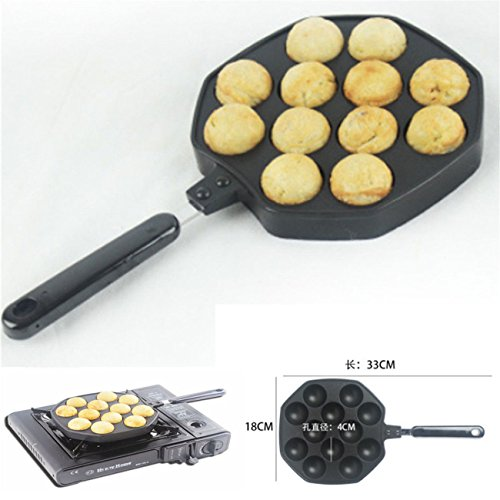 12 Holes Takoyaki Octopus Grill Tray Mold Pan - 2