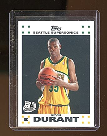 2d2dd77fea20e 2007-08 Topps Rookie Set #2 Kevin Durant Seattle Sonics Rookie Card ...