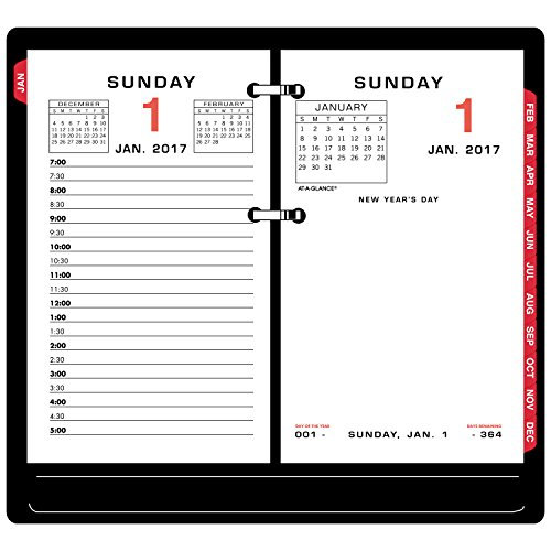 - AT-A-GLANCE Daily Calendar 2017 Refill, 3-1/2 x 6