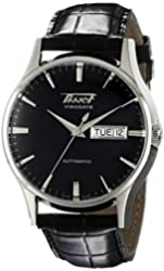 Tissot Men's TIST0194301605101 Visodate Black Dial Watch