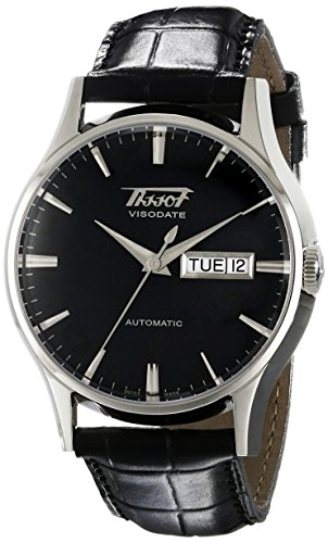 Tissot Men's T0194301605101 Visodate Black Dial Watch