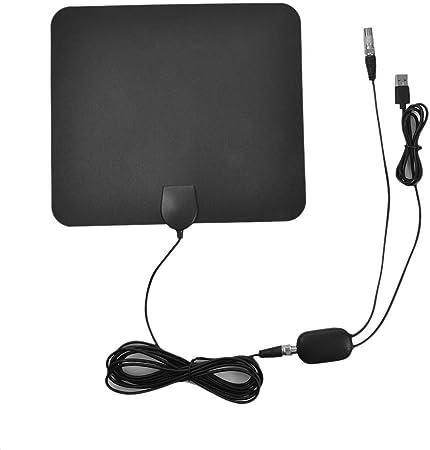 Thrivinger 4. TV Full HD Crystal Clear: Nuevo Material Antena Interior ampliada para Antena Interior 4K Digital HDTV Rango de 960 Millas con HD1080P DVB-T2 TNT para la Vida Cadenas Locales: Amazon.es: