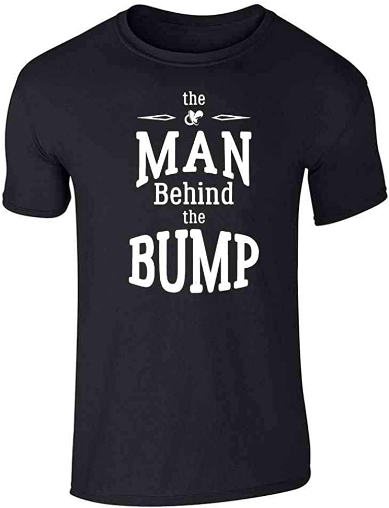 Pop Threads The Man Behind The Bump Gift for Dad Black 3XL Graphic Tee T-Shirt for Men
