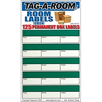 Amazon.com : Tag-A-Room Color Coded Office Moving Box Labels ...