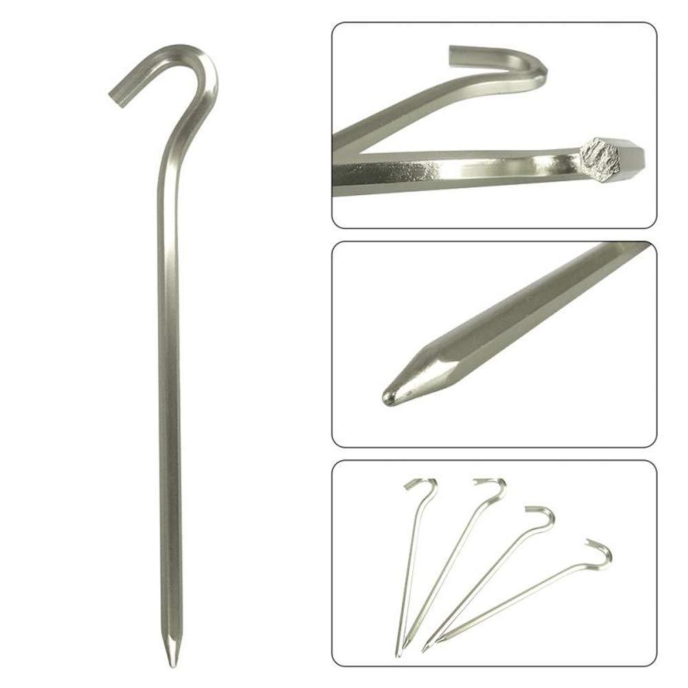 camping ganchos para u/ñas senderismo para jardiner/ía 17,78 cm de largo 20 pinzas de acero para tienda de campa/ña estacas