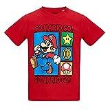 Super Mario Bros Boys Short Sleeve T-Shirt - red - 10 yrs