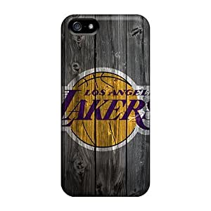 PC AnnetteL Shockproof Scratcheproof Lakers In Wood Hd Hard Case For Iphone 4/4S Cover