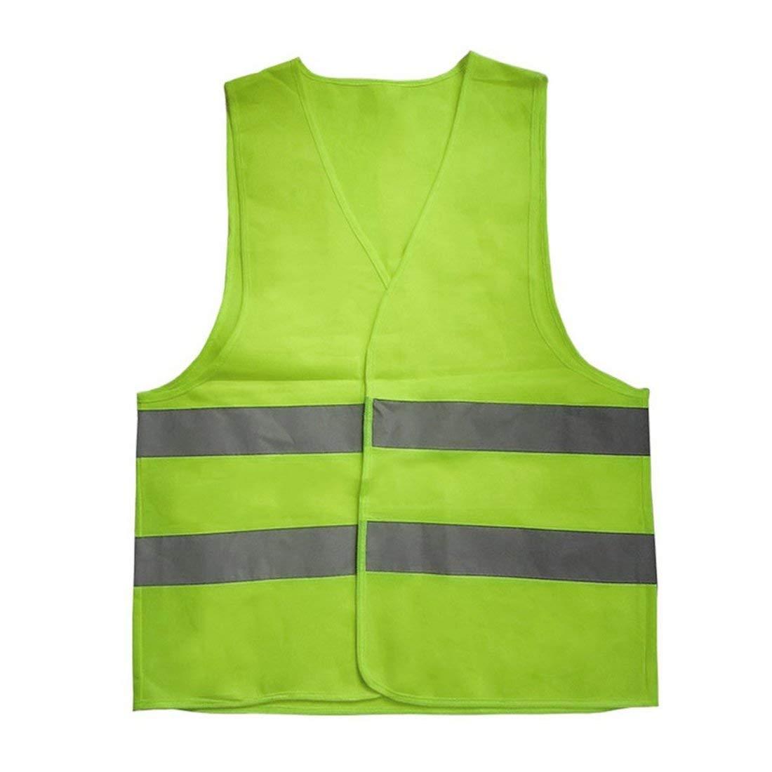 Formulaone vestibilità Riflettente Vestiario da Lavoro Alta visibilità Giorno Notturno Giubbotto Protettivo per Corsa in Bicicletta Sicurezza Stradale