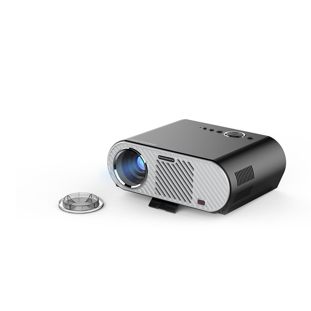 OYGROUP LCD Protable Projector, 3200 Lumens LED Multimedia HD 1080P with 2 USB/2 HDMI/VGA Port for Laptop TV iPad iphone