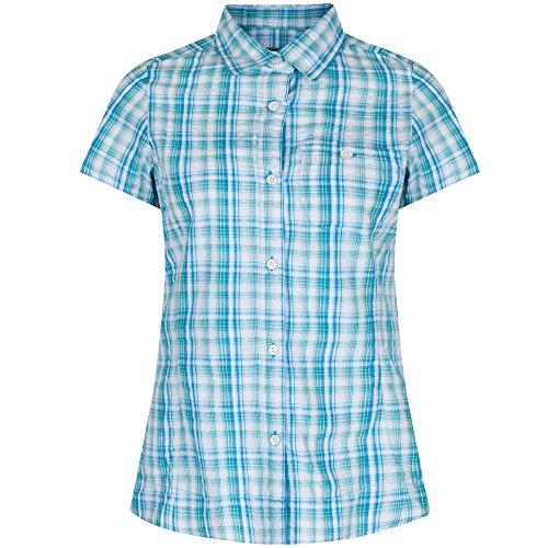 Regatta Great Outdoors Womens/Ladies Jenna Checked Short Sleeve Shirt (18) - 18 Atlantis Light