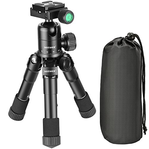 Neewer 20 inches/50 Centimeters Portable Compact Desktop Macro Mini Tripod with 360 Degree Ball Head,1/4 inches Quick Release Plate, Bag for DSLR Camera, Video Camcorder up to 11 pounds/5 kilograms