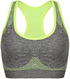 Women's Seamless Sports Bra High Impact Pocket Yoga Bras XL Green
