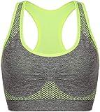 Vermilion Bird Women's Seamless Sports Bra High Impact Pocket Yoga Bras L Green