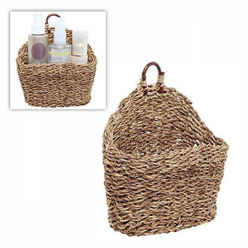 6.5 Inch Handmade Weave Hanging Storage Basket / Multipurpose Small Indoor Display Bin, Brown (Hanging Wall Baskets)