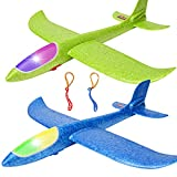 """BooTaa 2 Pack 17.5"""" LED Airplane Toys, Large"""