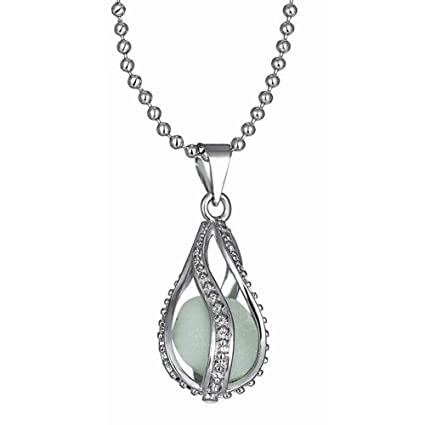 Image Unavailable. Image not available for. Color  Wenini Women Glow in  Dark Pendant Luminous Necklace 071f281f2574