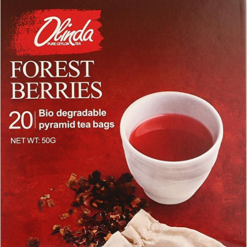 Olinda Organic Forest Berries 18 Boxes (1 Box Contains 20 Tea Bags) by Olinda