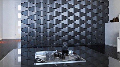 Wall Plaster Panel Concrete Abs Plastic Mold 3d Decorative Decor Form SQUAMA 1 pcs (3 Form Panel)