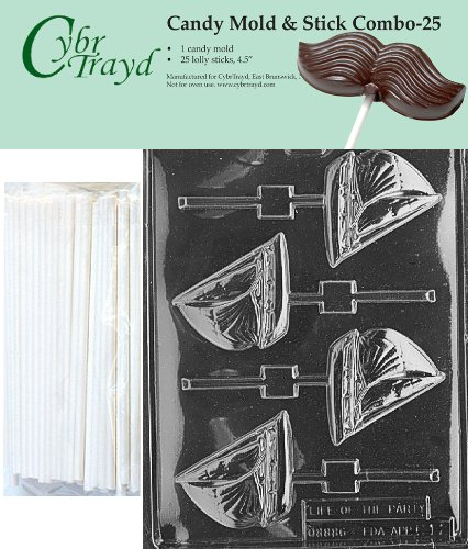 Cybrtrayd 45St25-K012 Sailboat Lolly Chocolate Candy Mold