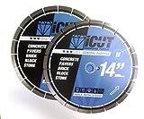 (2) Pack of 14-Inch Diamond Blades - 14
