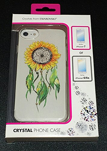 Dreamy Design (Sunflower Series-U) Protective Slim Encrusted Swarovski Crystals Case for Apple iPhone 7
