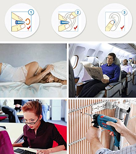 Soft Foam Earplugs, 32dB Highest NRR, Comfortable Ear Plugs for Sleeping, Snoring, Work, Travel and Loud Events by hle (Image #6)