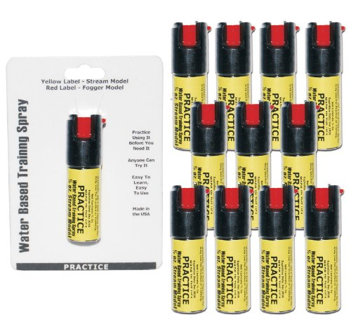 (Inert Pepper Spray Practice Bundle - Lot of 12 - Inert Practice Pepper Spray units)