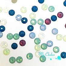 144 pcs (1 gross) Swarovski 2058 Xilion / 2088 Xirius crystal flat backs No-Hotfix rhinestones nail art OPAL Colors Mix ss20 (4.7mm) **FREE Shipping from Mychobos (Crystal-Wholesale)**