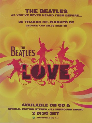 The Beatles - Love - Poster - Rare - New - John Lennon - Paul McCartney - George Harrison - Ringo Starr - George Martin - Cirque du - Mccartney Poster Paul