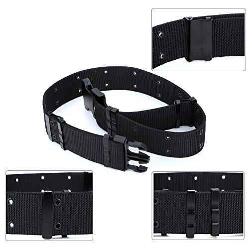Alaix Men S Military Nylon Canvas Tactical Belt 5 5cm