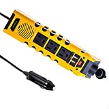 12v dc hair dryer - Bapdas 150W Car Power Inverter DC 12V to AC 110V With Dual USB Port Charger 4.8A+3 AC Outlet Plug+Cigarette Lighter Adapter--Yellow